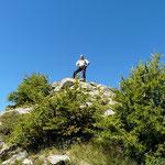 Luciano sulla cima senza nome 2269 m
