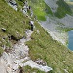 Discesa verso il Lago di Dentro