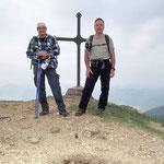 Chico e io sul Motto della Croce 1393 m