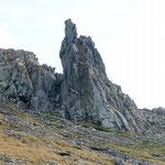 Belle forme vicino alla Bocchetta di Braghecc
