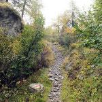Sentiero che sale a Pinett