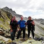 Daria, Luciano e io alla Bocchetta 2803 m