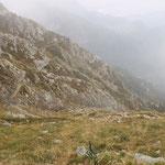 Il sentiero che sale dalla Valle di Caneggio