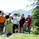 Il gruppo al completo a Sella da destra: Adriano, Gloria, Daria, Roberta, Franco (in ginocchio), Chico e io
