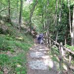 Sul sentiero per l'Agher