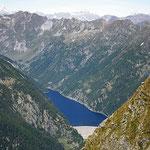 Lago del Sambuco dalla Cima sopra il Passo Fornale