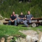 Luciano, Chico e io alla Capanna Soveltra 1534 m