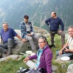 Il gruppo all'Alp di Agnon