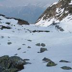 Discesa verso l'Alpe Tarch .... con tanta neve ....