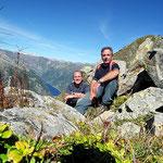 Luciano e io sulla Cima sopra il Passo Fornale