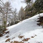 A quota 1860 m ritorniamo ... troppa neve!!