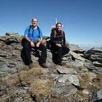 Luciano e io sul Pizzo dell'Uomo 2663 m