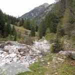 Sentiero Gamba in dent - Gamba in fora