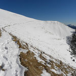 Ritorno in traversata sotto il Monte Boglia
