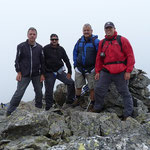 Luciano, Adri, Chico e io sul Piz Motton 2853 m