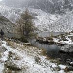 Arrivati al Lago di Mognòla 2003 m