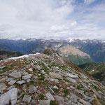 Panoramica dal Pizzo d'Orgnana 2218 m