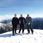 Chico, Luciano e io sul Munzelüm 2061 m