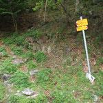 Strada per la Val di Roggiasca, sentiero per l'Alp d'Albionasca
