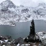 Panoramica del Lago superiore di Suretta 2272 m