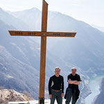 Chico e io sul Monte del Corgell 1314 m