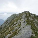 La cresta verso la Cimetta