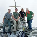 Da destra; Adriano, Daria, Roberto e io sul Pizzo di Claro 2727 m