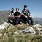 Piz Giümela 2445 m, Chico, Luciano e io