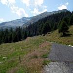 Alp de Cascinarsa 1747 m con il Piz Giümela e la cresta percorsa