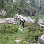 Luciano sul sentiero per il Passo Deva