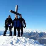 Chico, Luciano e io sul Monte Boglia 1516 m