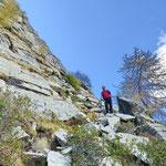 Discesa all'Alpe Fümègna