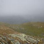 Lago Retico 2372 m... visibilità nulla e freddo, decidiamo di andare al Passo di Gana Negra