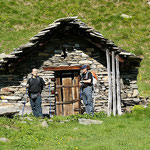 Luciano e Chico all'Alpe Càuri 1477 m