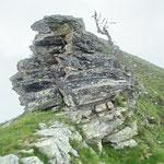La cresta principale per il Piz di Rüss