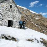 Ilario e io all'Alpe di Bietri 1499 m