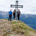 Daria, Luciano e io sul Pizzo Molare 2589 m