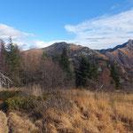 Dal Monte Paglione verso il Monte Gambarogno e Monte Tamaro