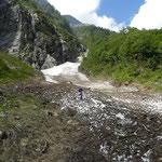C'è ancora neve nelle valli laterali