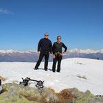 Luciano e io sul Monte Paglione 1554 m