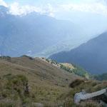 La cresta per l'Alpe di Negrös