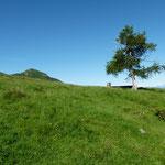 Alpe di Giumello 1594 m e al centro Scrigno di Poltrinone