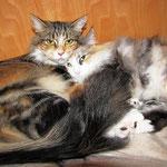 Yasmine 1,5 Jahr alt mit Mama Olympia