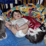 Calypso und Cheyenne 4 Monate alt