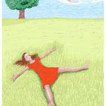 Illustratie voor boek over zelfontplooing (proef illustr.)