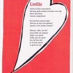 Illustratie bij gedicht 'Liefde' van Karin de Smit