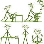 Illustraties voor massagepraktijk Jacky Bekers