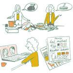Illustraties vervaardigd voor website ruimte-makers.nl