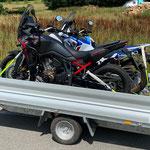 Hochlader Motorrad