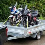 Motorrad Auffahrrampe